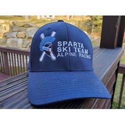 Spartan Navy Fitted FlexFit Hat