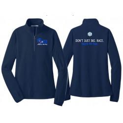 Navy Ski Fleece 1/2 Zip Pullover - Womens