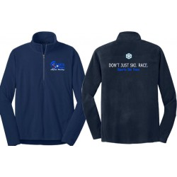 Navy Ski Fleece 1/2 Zip Pullover - Mens