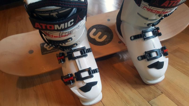 Whirly Boards On Edge Ski Boots